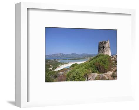 Torre di Porto Giunco Tower and Simius Beach near Villasimius, Sardinia, Italy--Framed Art Print