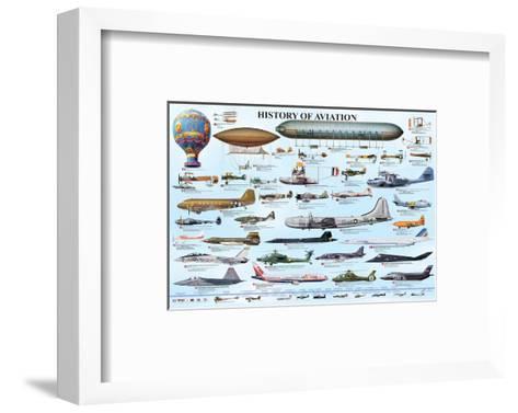 History of Aviation--Framed Art Print