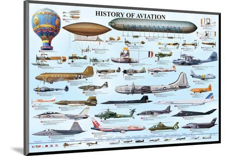 History of Aviation--Mounted Art Print