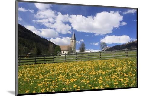 Saint Nicholas' Church in Burgeis, Vinschgau, Province of Trento, South Tyrol, Italy--Mounted Art Print