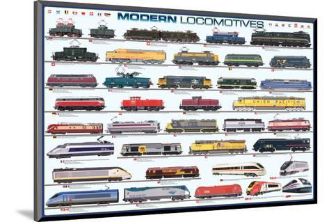 Modern Locomotives--Mounted Art Print