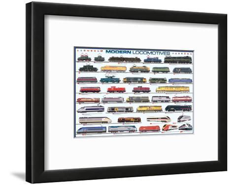 Modern Locomotives--Framed Art Print