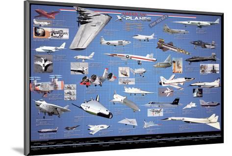 American Aviation - X-Planes--Mounted Art Print