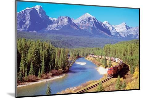 Train In The Rockies--Mounted Art Print