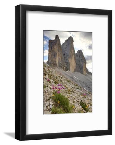 Tre Cime di Lavaredo, Sexten Dolomites, Province of Bolzano, South Tyrol, Italy--Framed Art Print