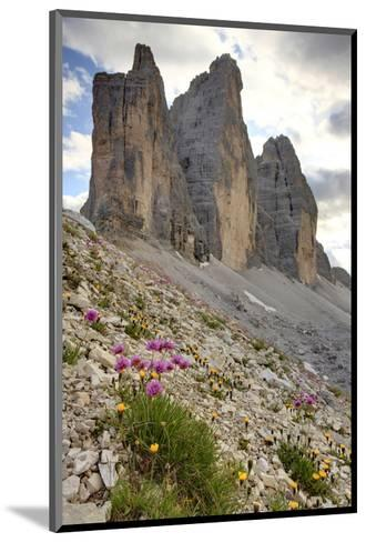 Tre Cime di Lavaredo, Sexten Dolomites, Province of Bolzano, South Tyrol, Italy--Mounted Art Print