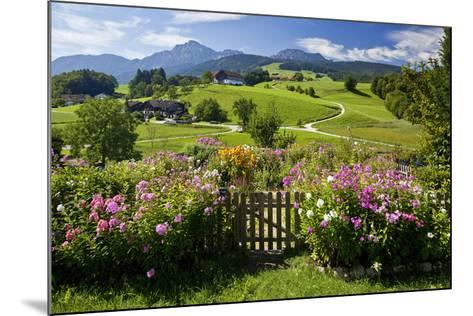 Flower Garden at Hoeglwoerth Monastery, Upper Bavaria, Bavaria, Germany--Mounted Art Print