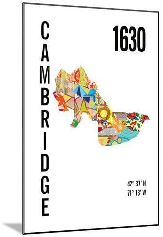 Cambridge, MA-J Hill Design-Mounted Giclee Print