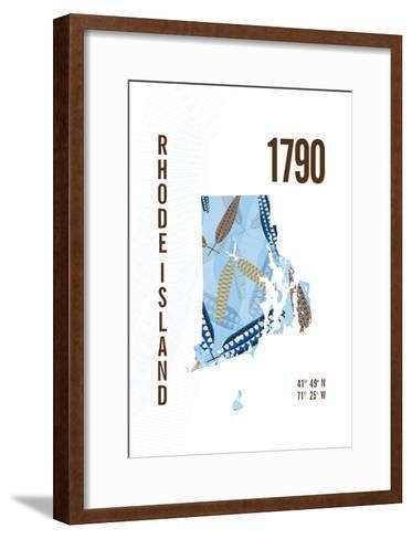 Rhode Island-J Hill Design-Framed Art Print