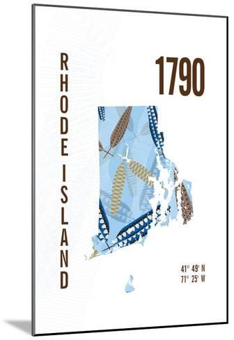 Rhode Island-J Hill Design-Mounted Giclee Print