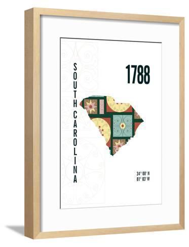 South Carolina-J Hill Design-Framed Art Print