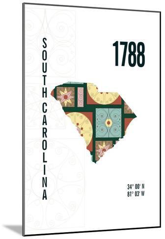 South Carolina-J Hill Design-Mounted Giclee Print