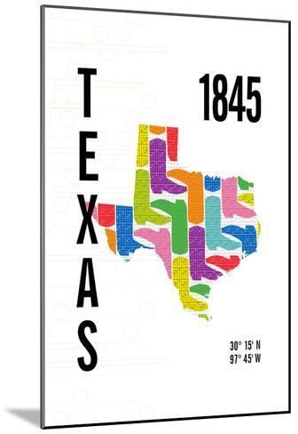 Texas-J Hill Design-Mounted Giclee Print