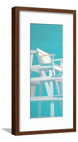 Life Guard Stand (turquoise)-Carol Saxe-Framed Art Print