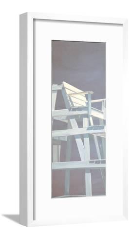 Life Guard Stand (grey)-Carol Saxe-Framed Art Print