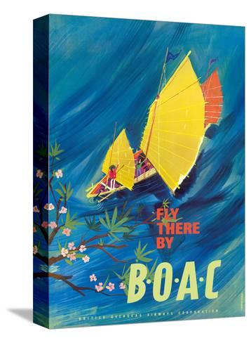 The Orient - Fly There By BOAC - Hong Kong Thailand Cambodia Asia-David Judd-Stretched Canvas Print