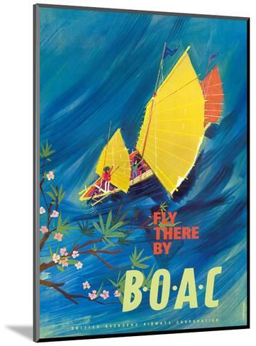 The Orient - Fly There By BOAC - Hong Kong Thailand Cambodia Asia-David Judd-Mounted Art Print