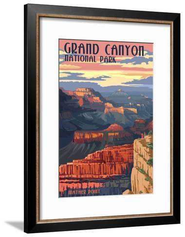 Grand Canyon National Park - Mather Point--Framed Art Print