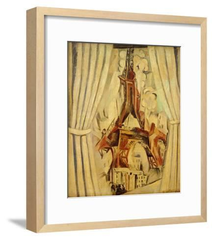 Eiffel Tower with Curtains, 1910-Robert Delaunay-Framed Art Print