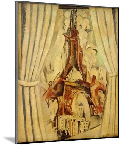 Eiffel Tower with Curtains, 1910-Robert Delaunay-Mounted Giclee Print