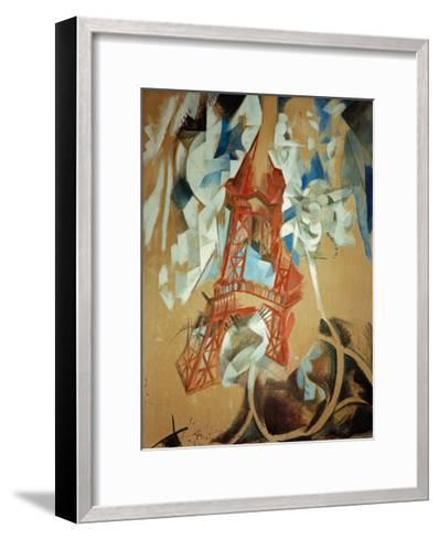 Eiffel Tower, 1910/11-Robert Delaunay-Framed Art Print