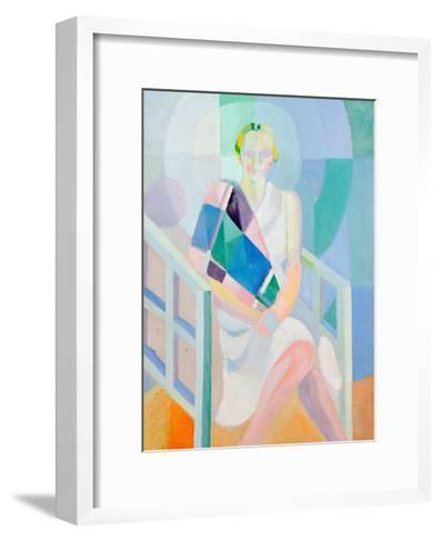 Portrait Madame Heim, 1927-Robert Delaunay-Framed Art Print