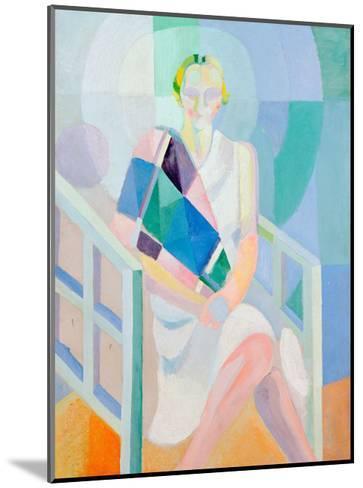 Portrait Madame Heim, 1927-Robert Delaunay-Mounted Giclee Print