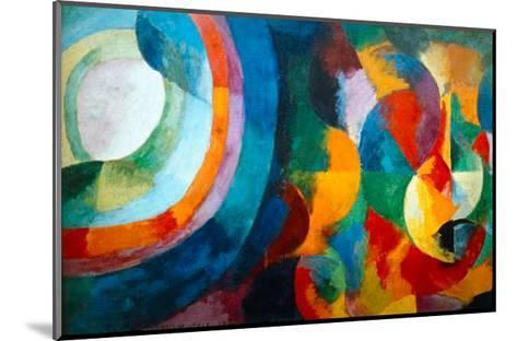 Simultaneous Contrasts: Sun and Moon, 1912-1913-Robert Delaunay-Mounted Giclee Print