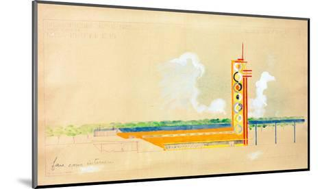 Sketch for the Exterior Design of the Train Pavillion, 1937-Robert Delaunay-Mounted Giclee Print