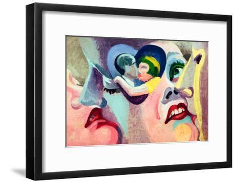 The Lovers of Paris: The Kiss, 1929-Robert Delaunay-Framed Art Print