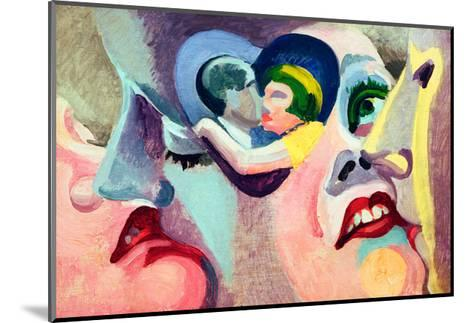 The Lovers of Paris: The Kiss, 1929-Robert Delaunay-Mounted Giclee Print
