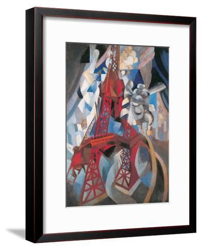The Tour Eiffel and Paris, 1911-1912-Robert Delaunay-Framed Art Print