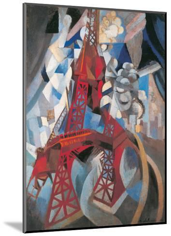 The Tour Eiffel and Paris, 1911-1912-Robert Delaunay-Mounted Giclee Print