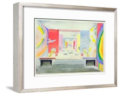 Design for the Interior of the Aviation Pavillion at the World Exhibition in Paris, 1937-Robert Delaunay-Framed Art Print