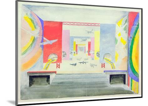 Design for the Interior of the Aviation Pavillion at the World Exhibition in Paris, 1937-Robert Delaunay-Mounted Giclee Print