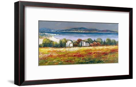 Borgo mediterraneo-Luigi Florio-Framed Art Print