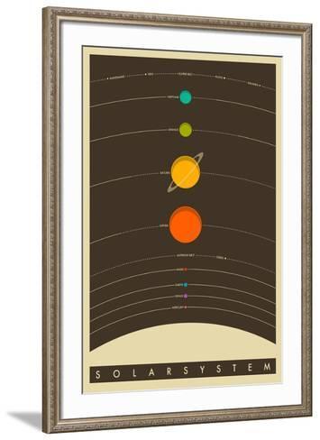 The Solar System--Framed Art Print