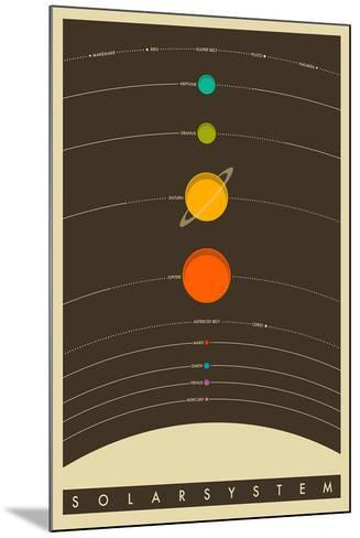 The Solar System--Mounted Poster
