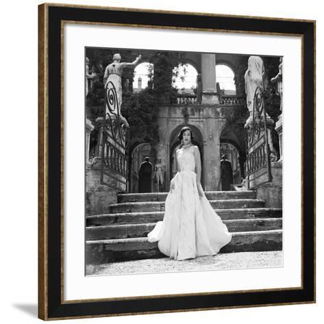 Lady in Formal Evening Dress-Genevieve Naylor-Framed Art Print