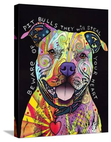 Beware of Pit Bulls-Dean Russo-Stretched Canvas Print