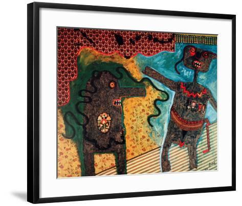 Generale Nell'Intimita-Enrico Baj-Framed Art Print