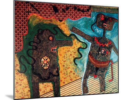 Generale Nell'Intimita-Enrico Baj-Mounted Art Print