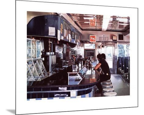 Blue Diner-Ralph Goings-Mounted Serigraph