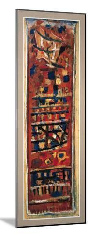 Rouge, Noir et Orange-Roger Bissiere-Mounted Collectable Print
