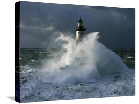 Phare d'Ar-Men I-Jean Guichard-Stretched Canvas Print