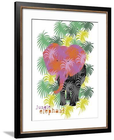 Jungle Elephant-Laure Girardin-Vissian-Framed Art Print