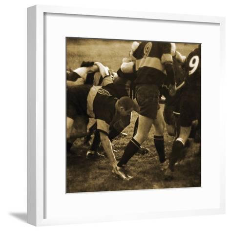 Rugby Game II-Pete Kelly-Framed Art Print