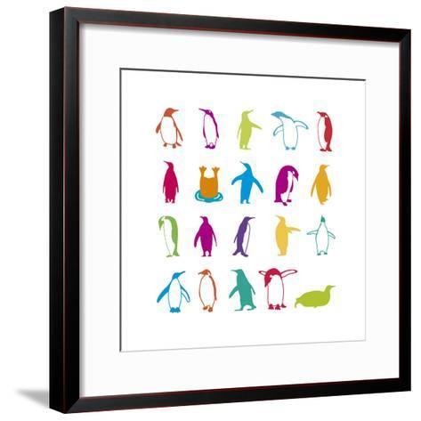 Penguin Fun-Clara Wells-Framed Art Print