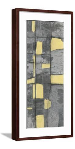 Lemon on Grey I-Jennifer Goldberger-Framed Art Print