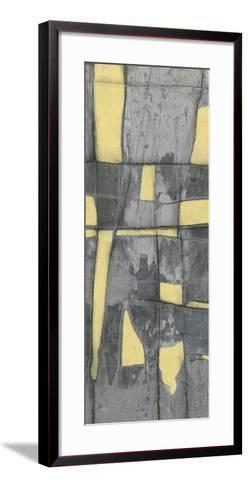 Lemon on Grey II-Jennifer Goldberger-Framed Art Print